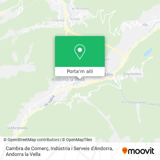 mapa Cambra de Comerç, Indústria i Serveis d'Andorra