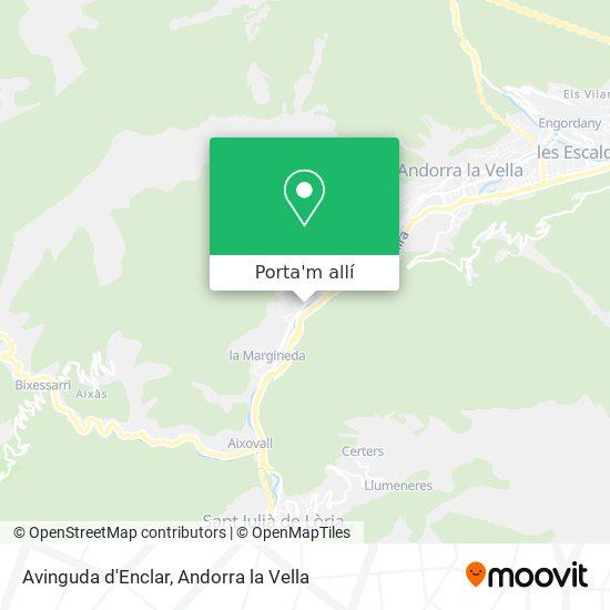 mapa Avinguda d'Enclar