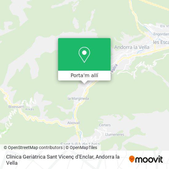mapa Clínica Geriàtrica Sant Vicenç d'Enclar