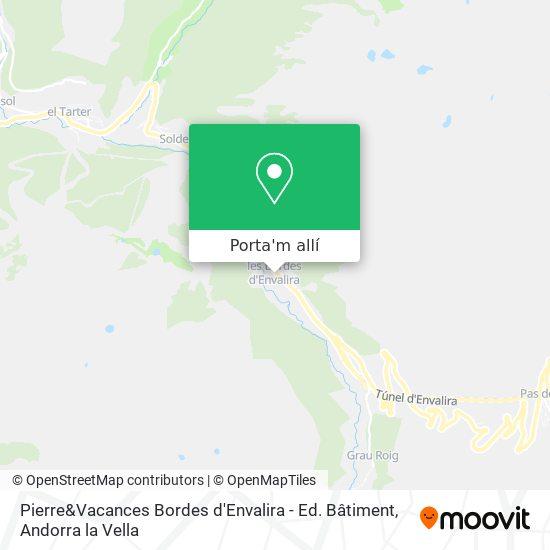 mapa Pierre&Vacances Bordes d'Envalira - Ed. Bâtiment