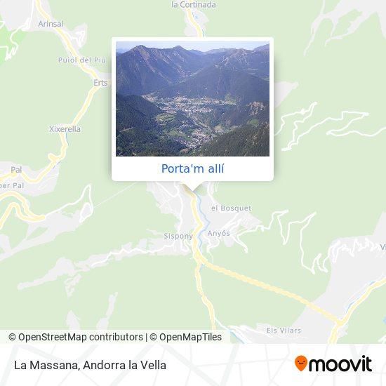 mapa La Massana