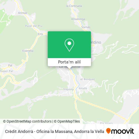 mapa Crèdit Andorrà - Oficina la Massana