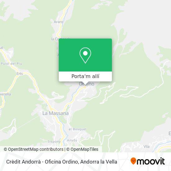mapa Crèdit Andorrà - Oficina Ordino