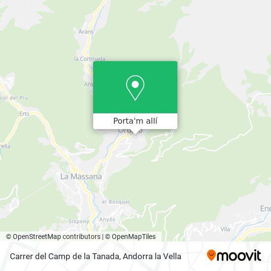 mapa Carrer del Camp de la Tanada
