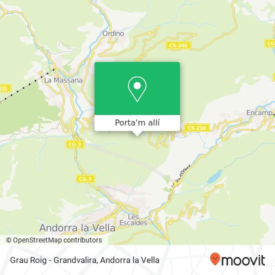 mapa Grau Roig - Grandvalira