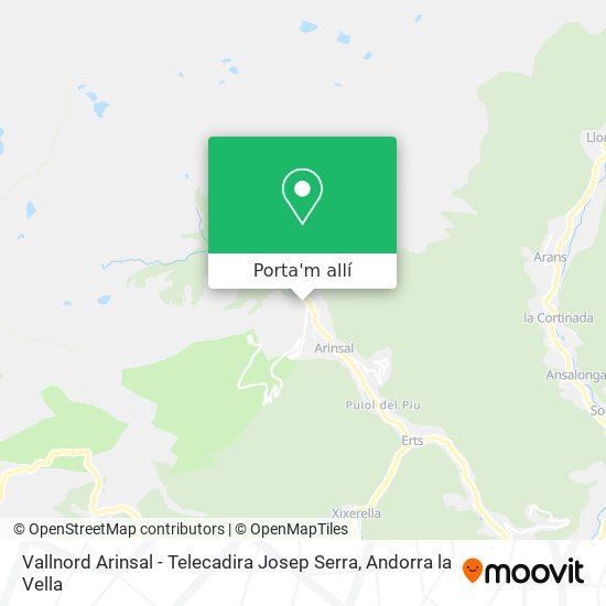 mapa Vallnord Arinsal - Telecadira Josep Serra