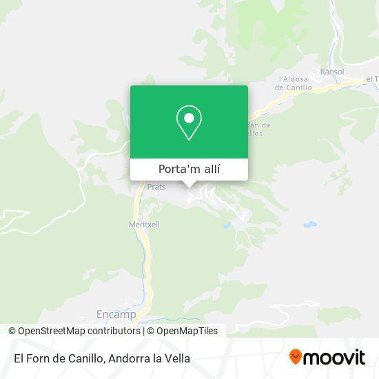 mapa El Forn de Canillo