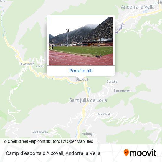 mapa Camp d'esports d'Aixovall