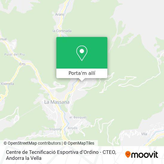 mapa Centre de Tecnificació Esportiva d'Ordino - CTEO