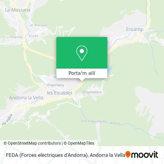 mapa FEDA (Forces elèctriques d'Andorra)