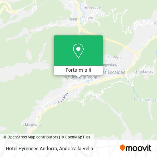 mapa Hotel Pyrenees Andorra