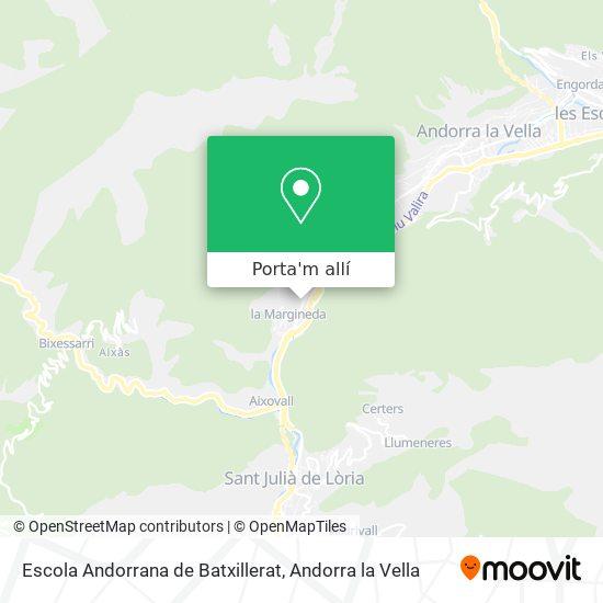 mapa Escola Andorrana de Batxillerat