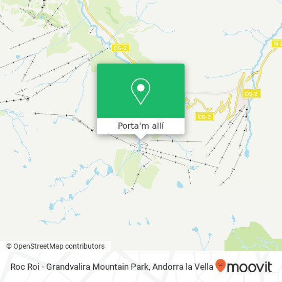 mapa Roc Roi - Grandvalira Mountain Park
