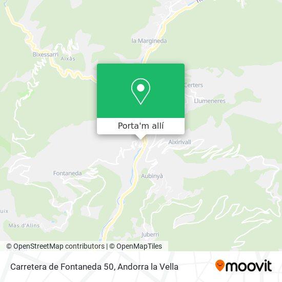 mapa Carretera de Fontaneda 50