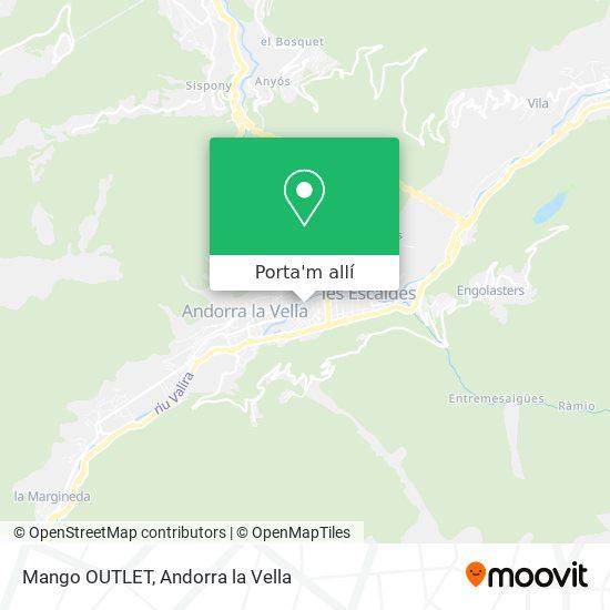 mapa Mango OUTLET