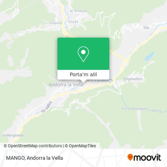 mapa MANGO