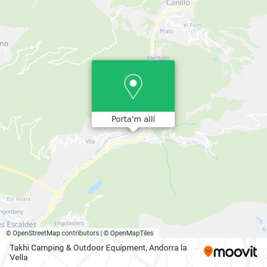 mapa Takhi Camping & Outdoor Equipment