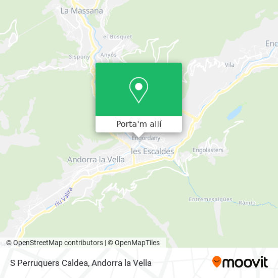 mapa S Perruquers Caldea