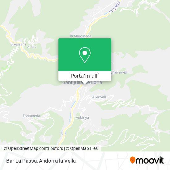 mapa Bar La Passa