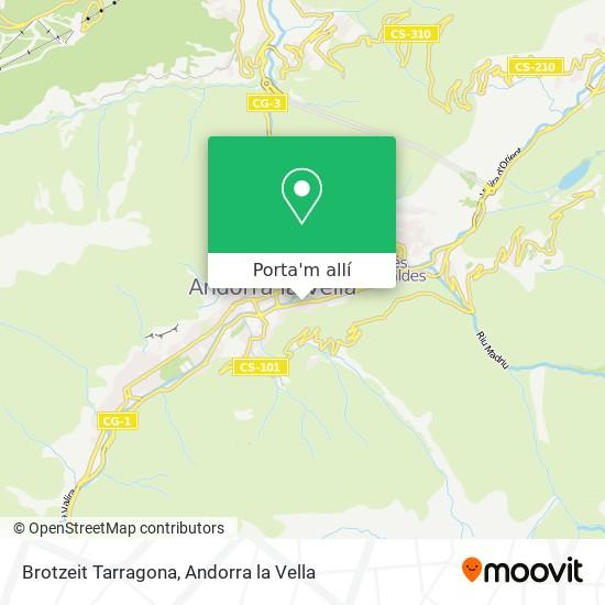 mapa Brotzeit Tarragona