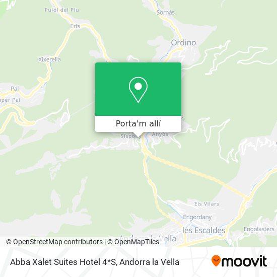 mapa Abba Xalet Suites Hotel 4*S
