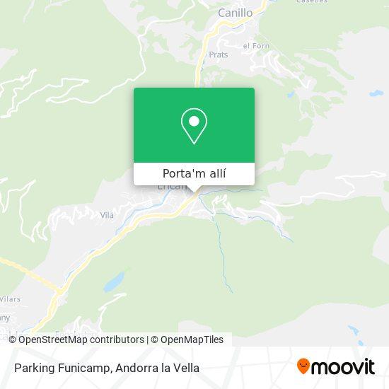 mapa Parking Funicamp