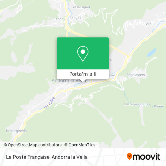 mapa La Poste Française