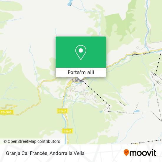 mapa Granja Cal Francès