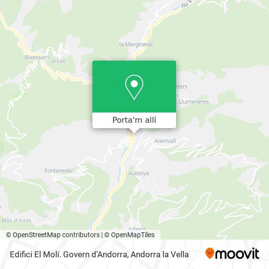 mapa Edifici El Molí. Govern d'Andorra