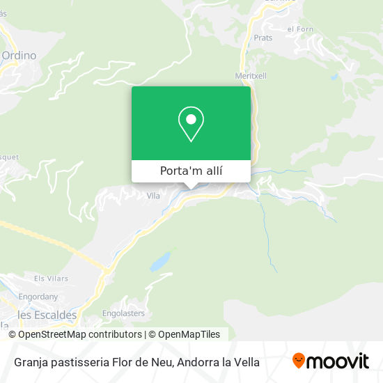 mapa Granja pastisseria Flor de Neu
