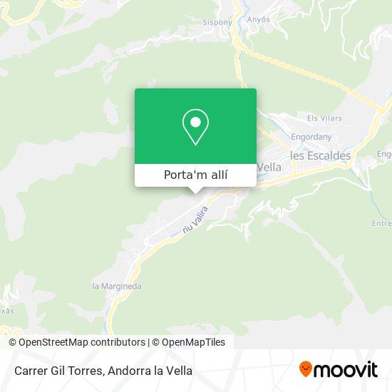 mapa Carrer Gil Torres