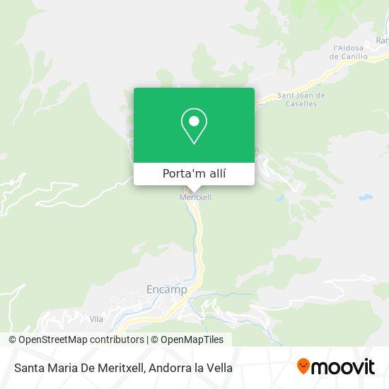 mapa Santa Maria De Meritxell