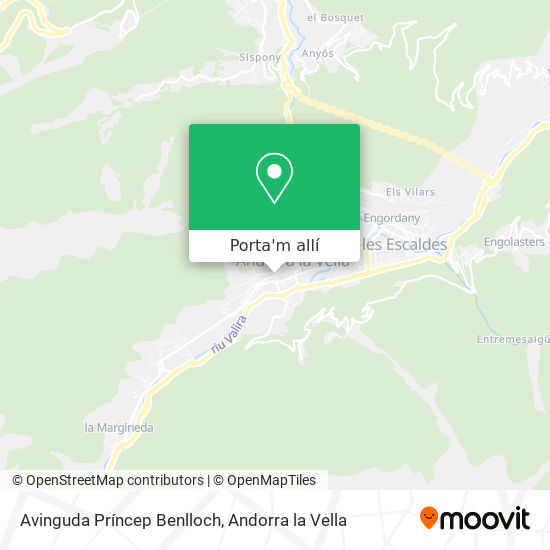mapa Avinguda Príncep Benlloch