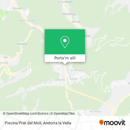 mapa Piscina Prat del Molí