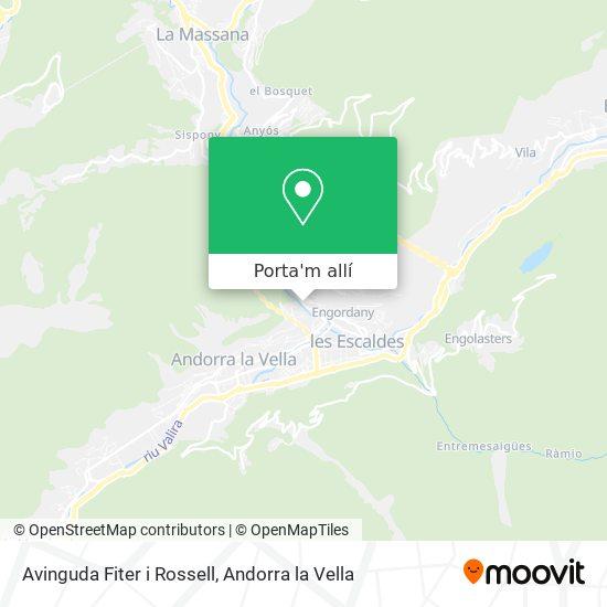 mapa Avinguda Fiter i Rossell