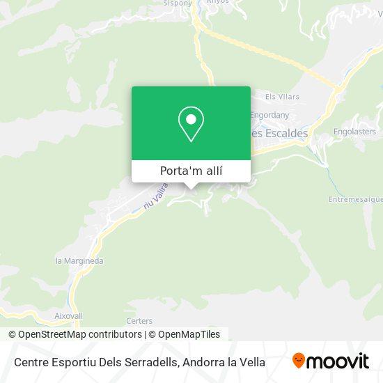 mapa Centre Esportiu Dels Serradells