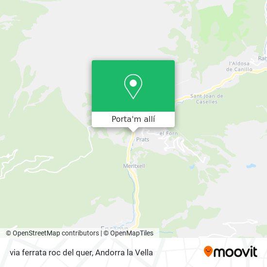 mapa via ferrata roc del quer
