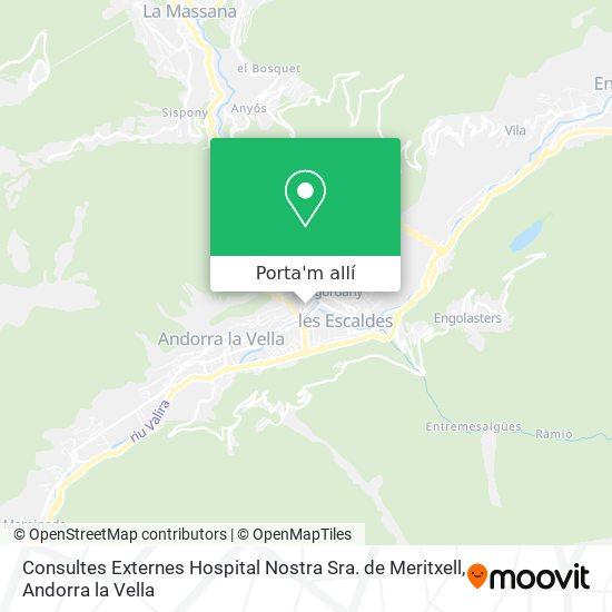 mapa Consultes Externes Hospital Nostra Sra. de Meritxell