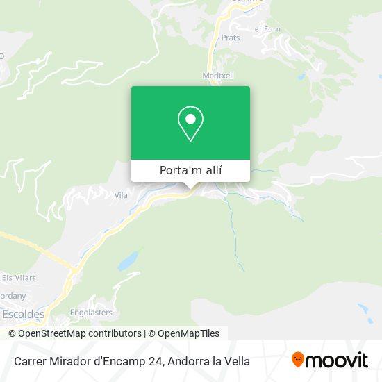 mapa Carrer Mirador d'Encamp 24