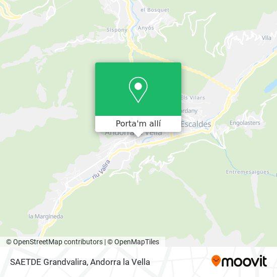 mapa SAETDE Grandvalira