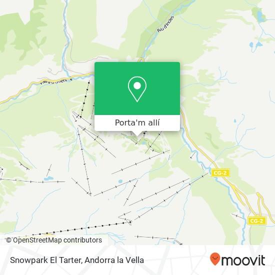 mapa Snowpark El Tarter