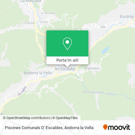 mapa Piscines Comunals D' Escaldes