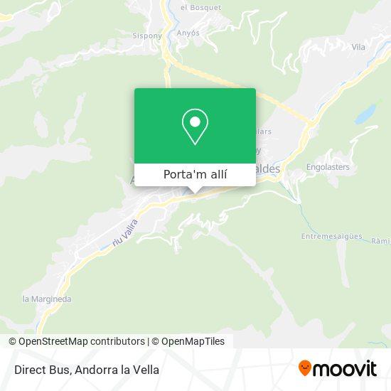 mapa Direct Bus