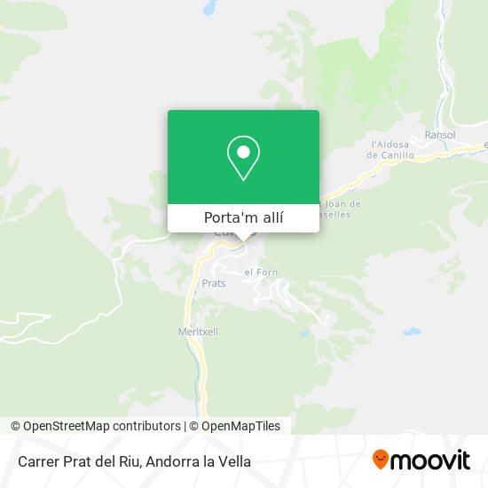 mapa Carrer Prat del Riu