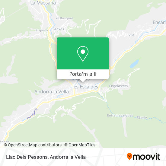mapa Llac Dels Pessons