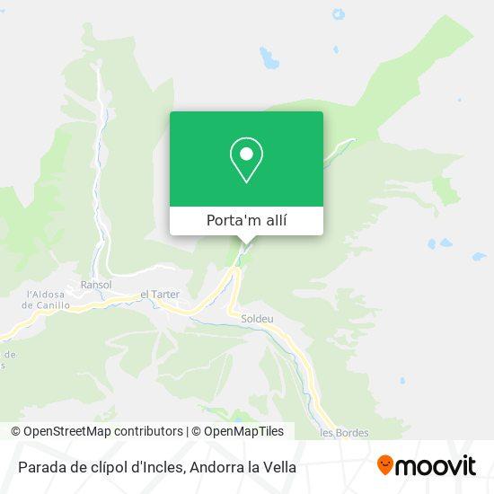 mapa Parada de clípol d'Incles