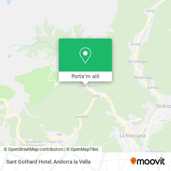 mapa Sant Gothard Hotel