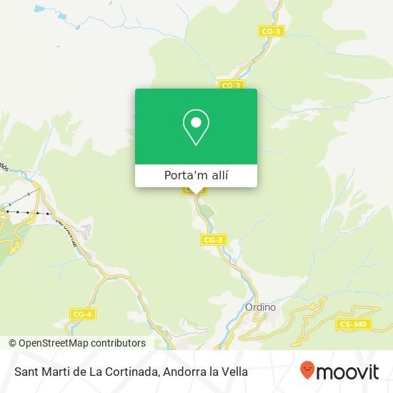 mapa Sant Marti de La Cortinada