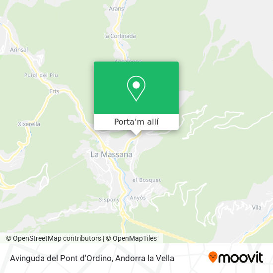 mapa Avinguda del Pont d'Ordino