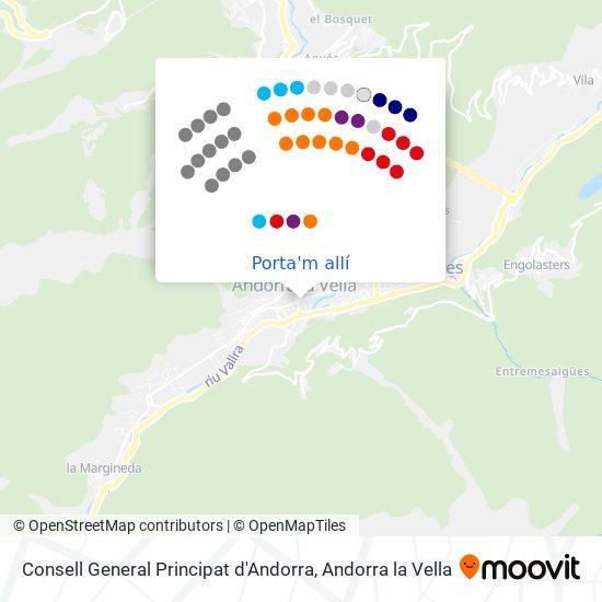 mapa Consell General Principat d'Andorra